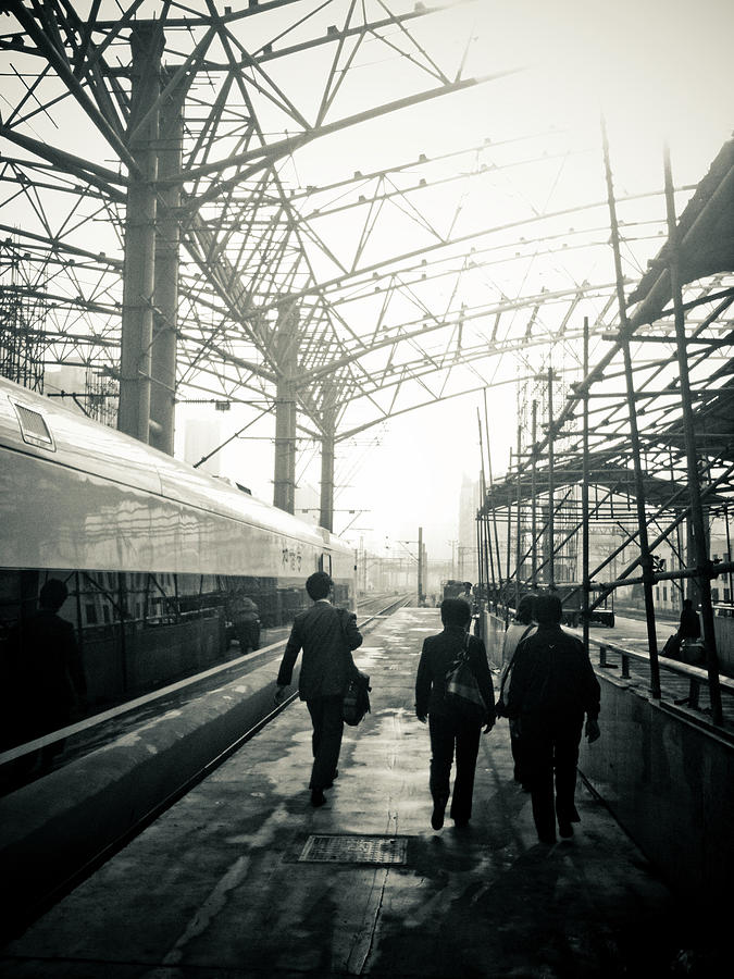 Train Station Under Construction Photograph by Niew Pey Ran