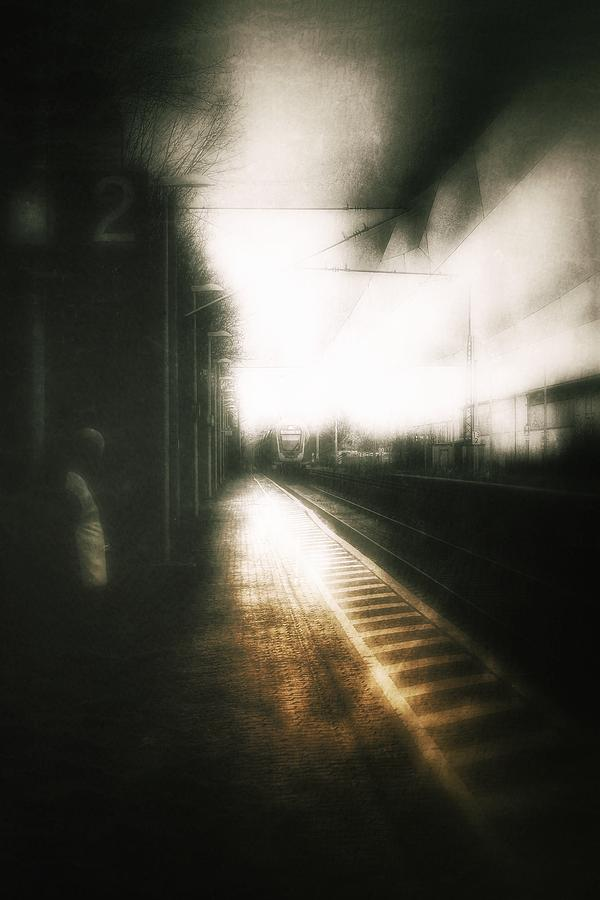 Loneliness Photograph - Train To The Fourth Dimension by Michael Nguyen