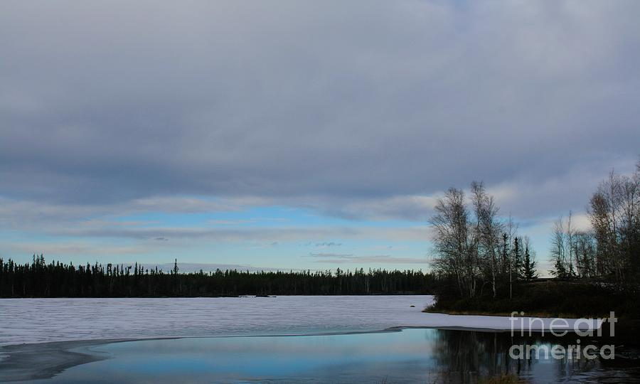 Tranquil Arctic River by Suzanne Lorenz
