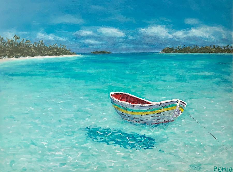 Dinghy Painting - Tranquil by Paul Emig