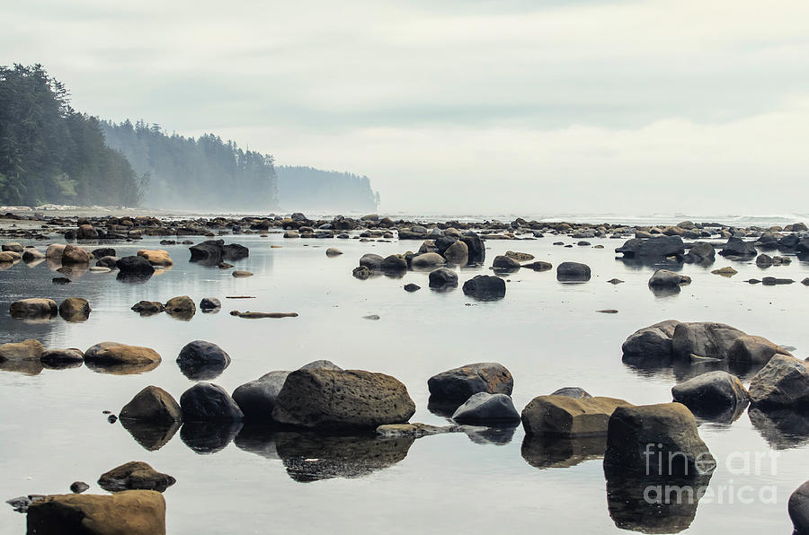 Trail Photograph - Tranquil Sea Water Surface Landscape by Anton Bielousov