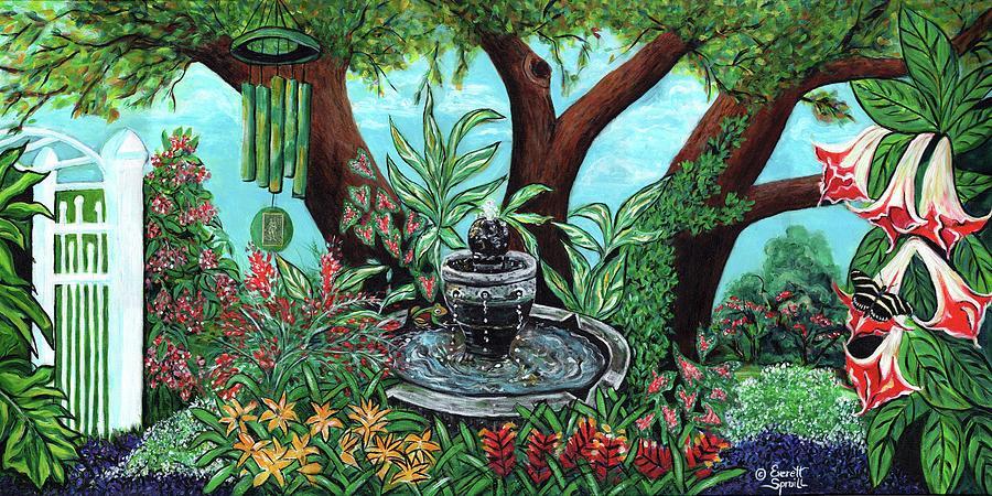 Tranquility Garden by Everett Spruill