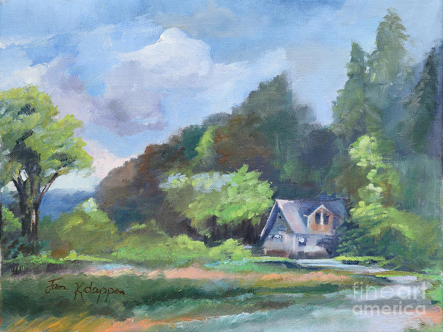 Tranquility Near the Park - Ellijay, GA - en Plein Air by Jan Dappen