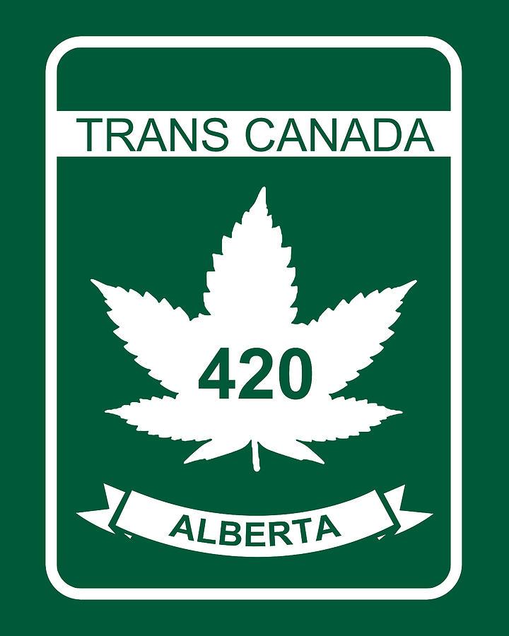 420 Digital Art - Trans Canada 420 Alberta - Quality Poster by Smoky Blue