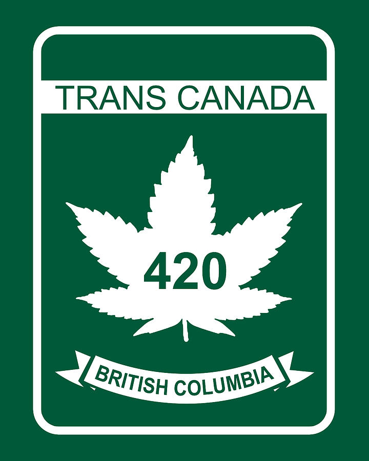 420 Digital Art - Trans Canada 420 British Columbia - Quality Poster by Smoky Blue