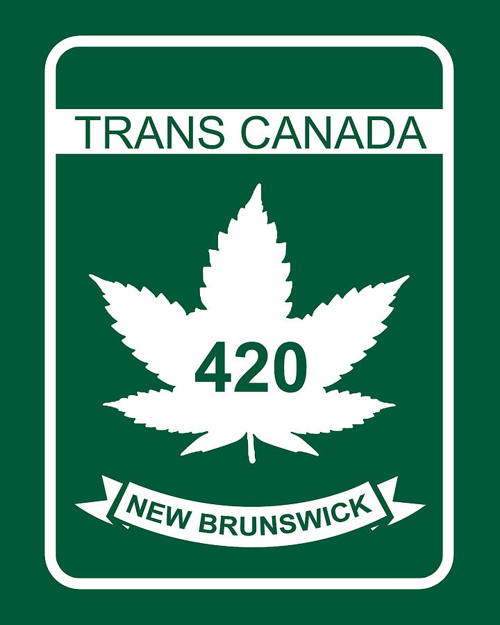 420 Digital Art - Trans Canada 420 New Brunswick - Quality Poster by Smoky Blue