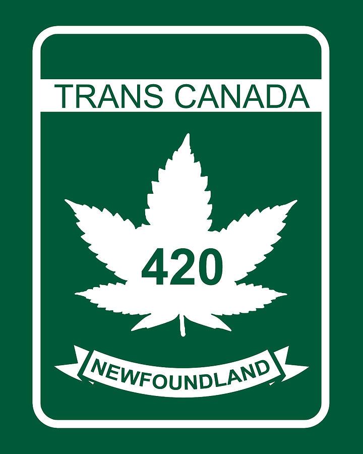 420 Digital Art - Trans Canada 420 Newfoundland - Quality Poster by Smoky Blue