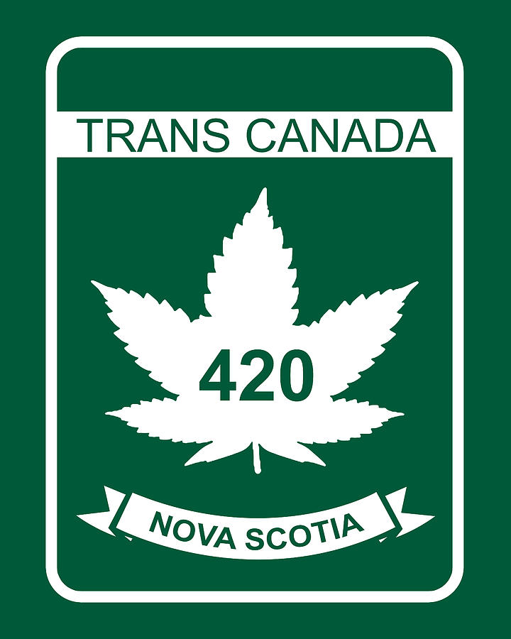 420 Digital Art - Trans Canada 420 Nova Scotia - Quality Poster by Smoky Blue