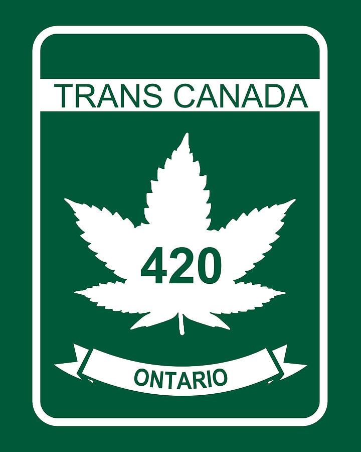 420 Ceramic Art - Trans Canada 420 Ontario by Smoky Blue