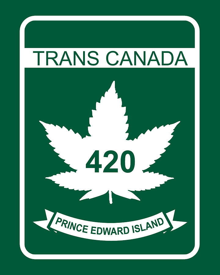 420 Digital Art - Trans Canada 420 Prince Edward Island - Quality Poster by Smoky Blue