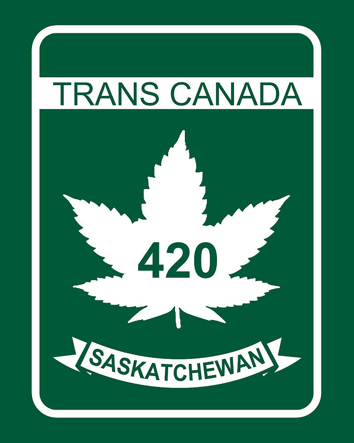 420 Digital Art - Trans Canada 420 Saskatchewan - Quality Poster by Smoky Blue