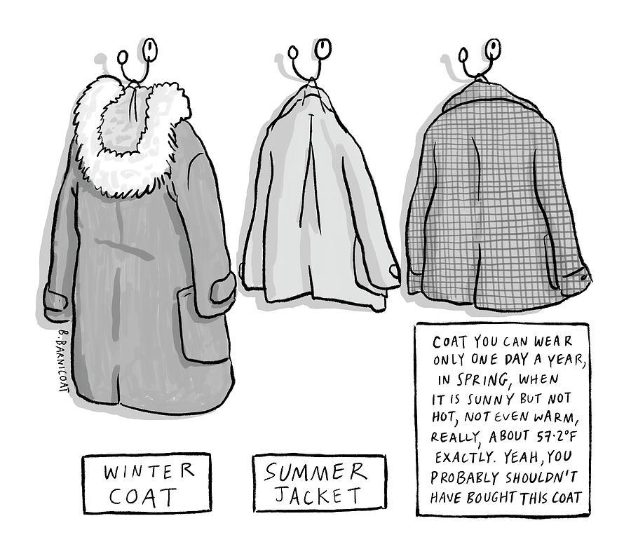 Trans-Seasonal Coat Drawing by Becky Barnicoat
