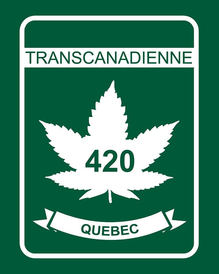420 Digital Art - Transcanadienne 420 Quebec - Quality Poster by Smoky Blue