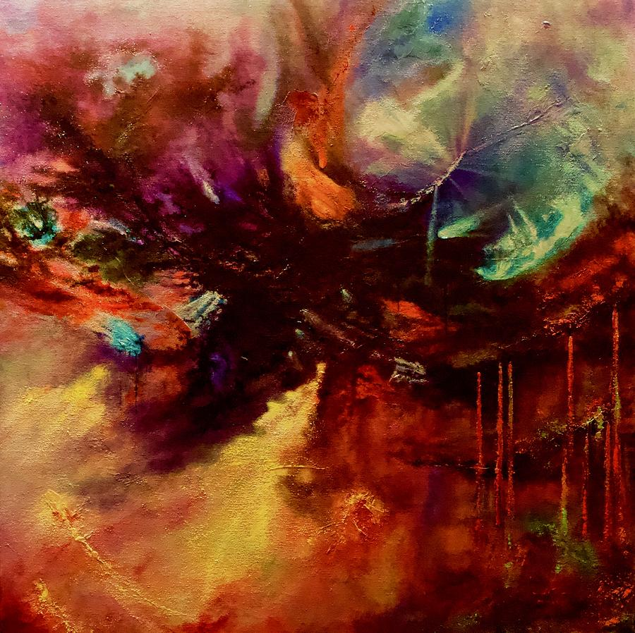 Abstract Painting - Transformation by Roland Miguel