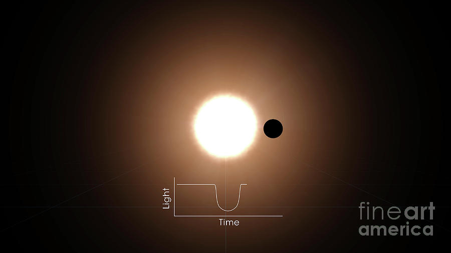Exoplanet Photograph - Transit Method To Detect Exoplanets by Nasa/science Photo Library