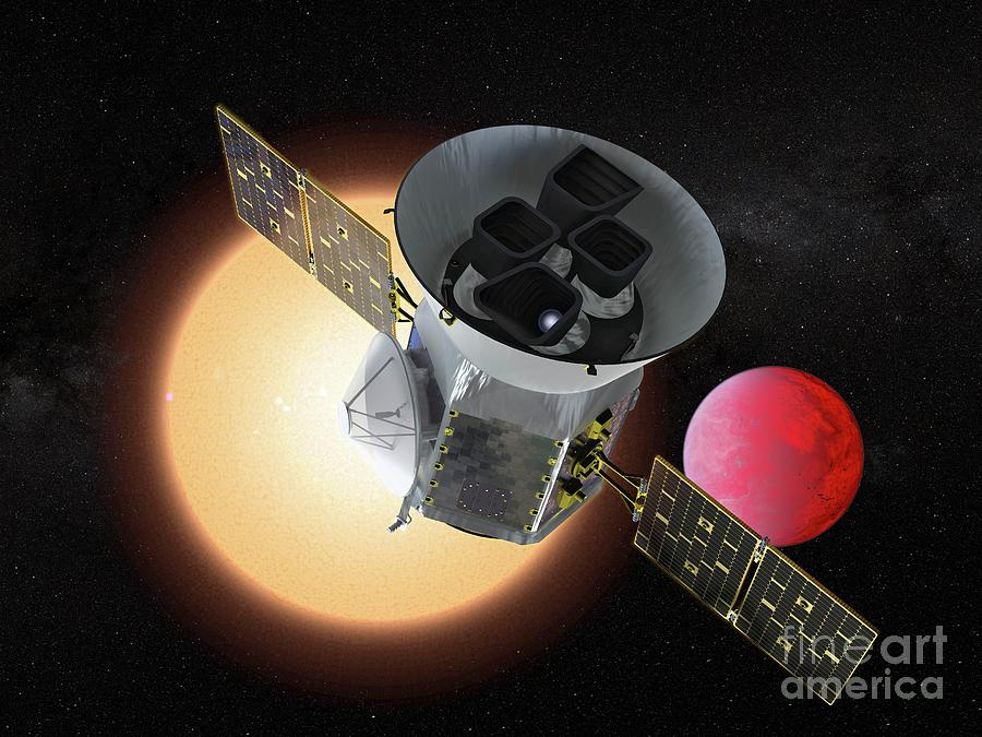 Tess Photograph - Transiting Exoplanet Survey Satellite by Nasa/goddard Space Flight Center/science Photo Library