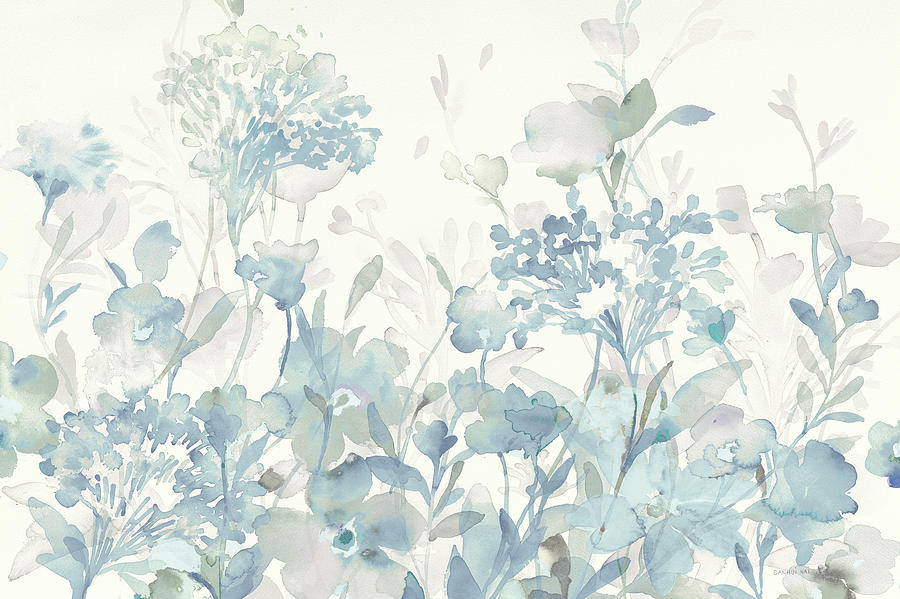 Blue Painting - Translucent Garden Cool Crop by Danhui Nai