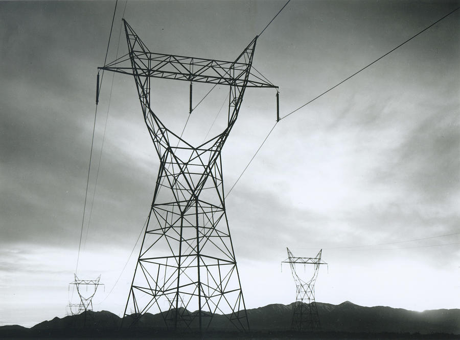 Transmission Lines In Mojave Desert Photograph by Archive Photos