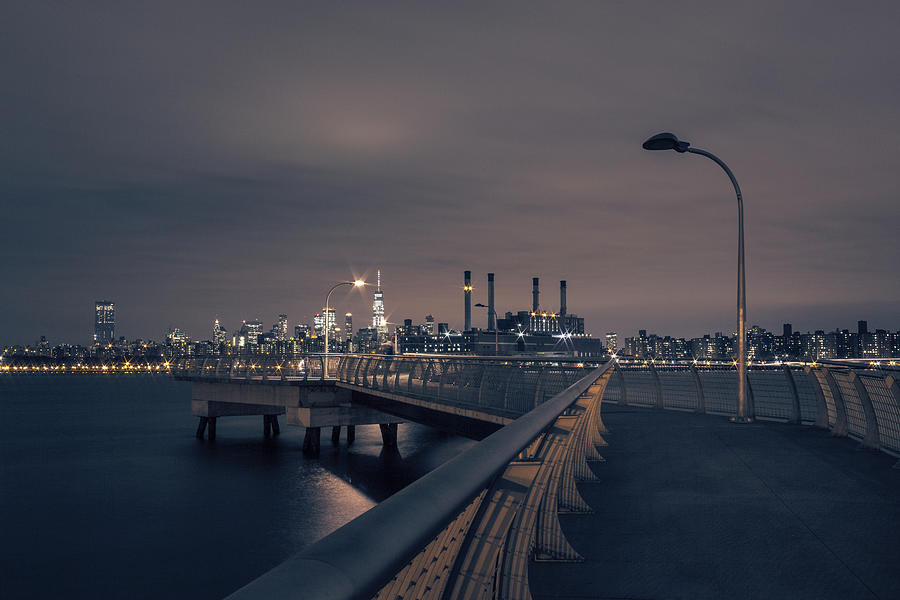 Midtown Photograph - Transmitter Park Pier, Brooklyn by Lorrie Joaus