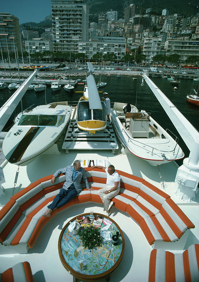 People Photograph - Transport Buffs by Slim Aarons