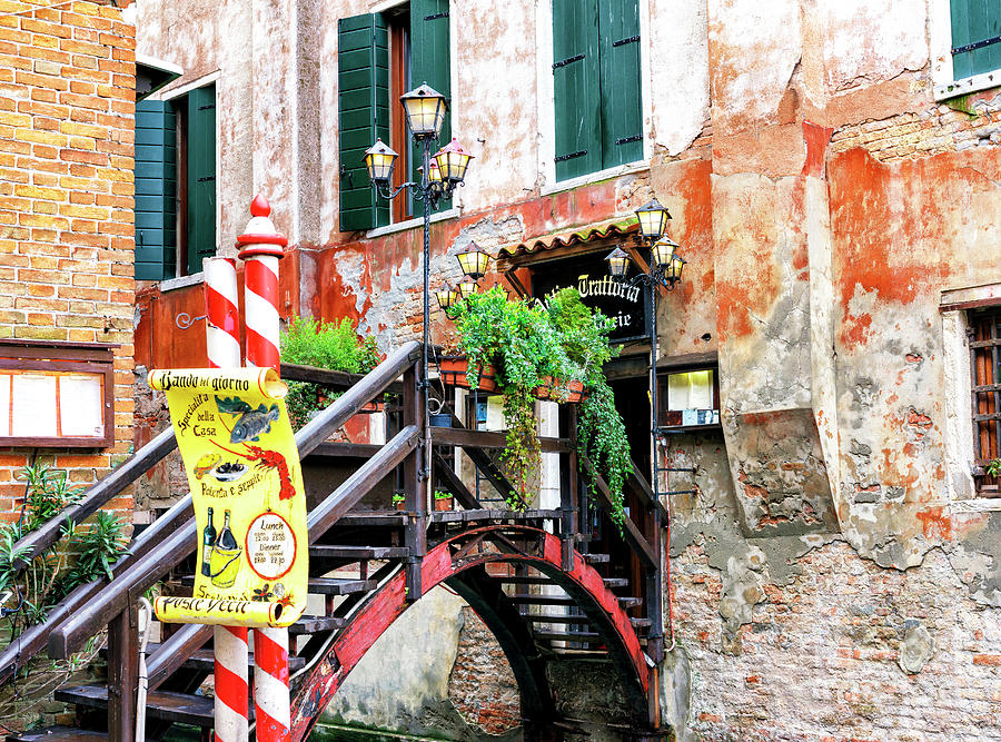Trattoria in Venice by John Rizzuto