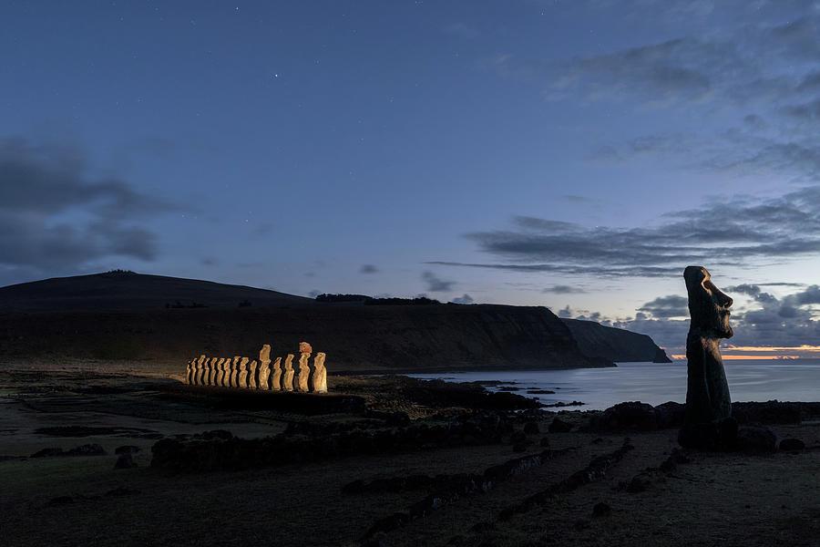 Traveler Moai by Erika Valkovicova