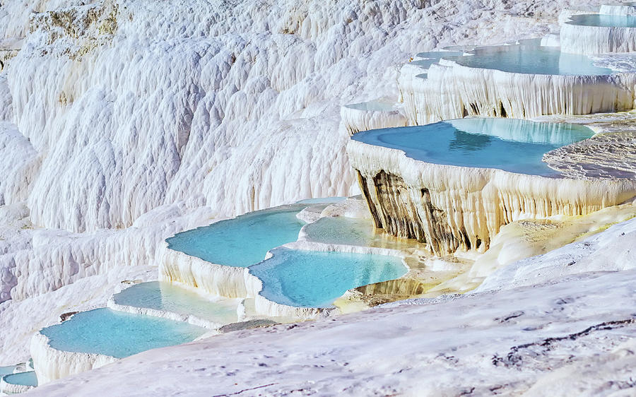 Scenic Photograph - Travertine Terrace Formations by Gloriasalgado