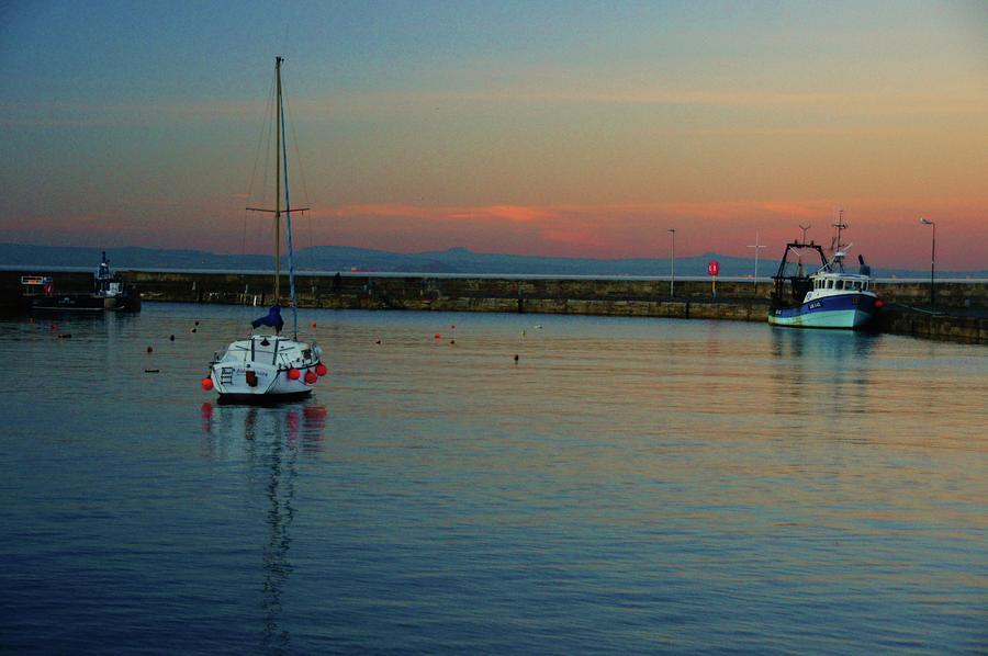 Handheld Photograph - Trawler And A Yacht by Nik Watt