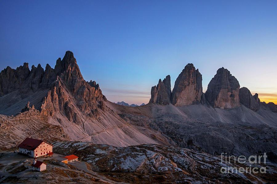 Tre Cime di Lavaredo in the Dolomites by Arterra Picture Library