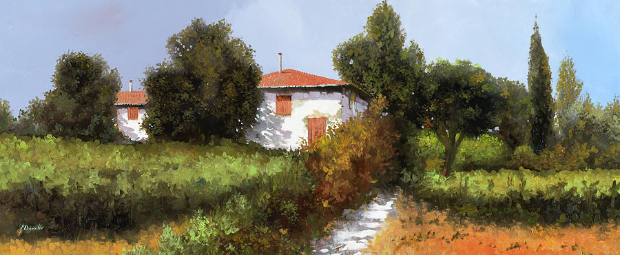 Country Painting - Tre Gennaio by Guido Borelli