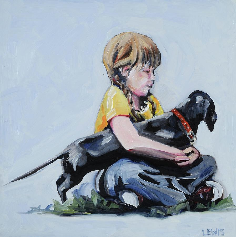 Dog Painting - Treasured Dog by Anne Lewis