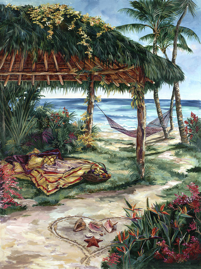 Treasures Of Coral Cay Painting by Karen Stene