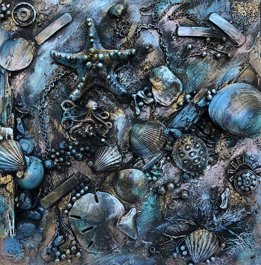 Metal Mixed Media - Treasures of the Deep  by Dayna Lopez