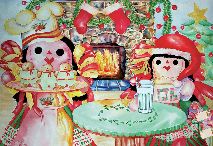 Christmas Painting - Treats For Santa Clause by Kandyce Waltensperger