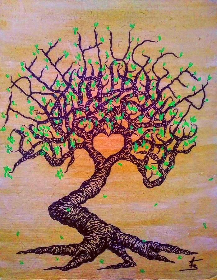 Tree Hugger Love Tree w/ foliage by Aaron Bombalicki