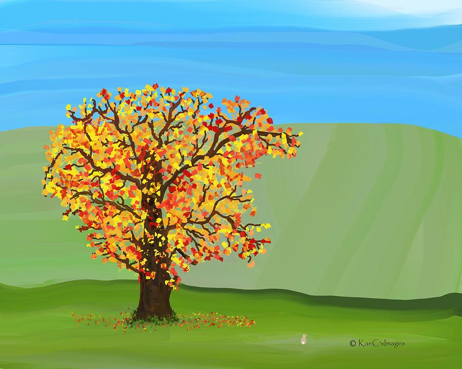 Tree in Autumn by Kae Cheatham