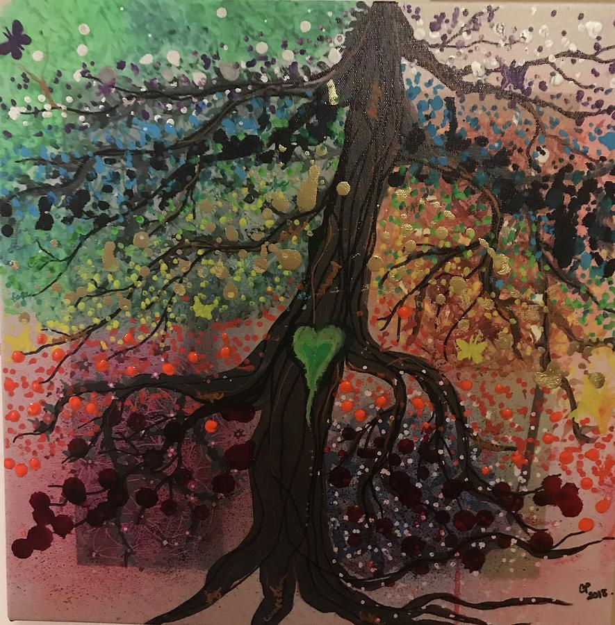 Tree of Life chakra tree by Christine Paris