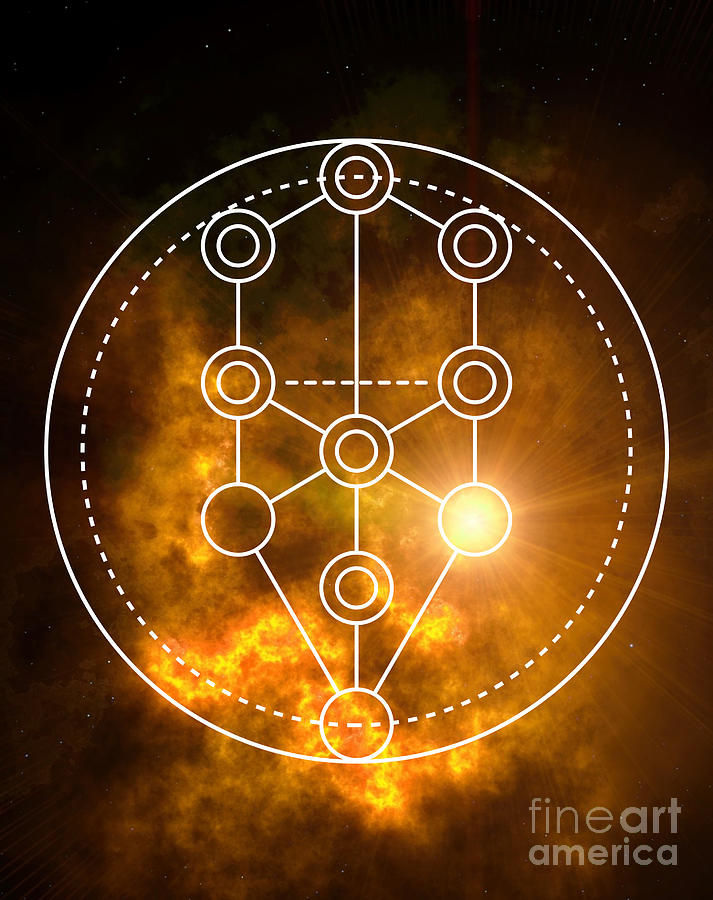 Tree of Life Sacred Geometry by Nathalie DAOUT