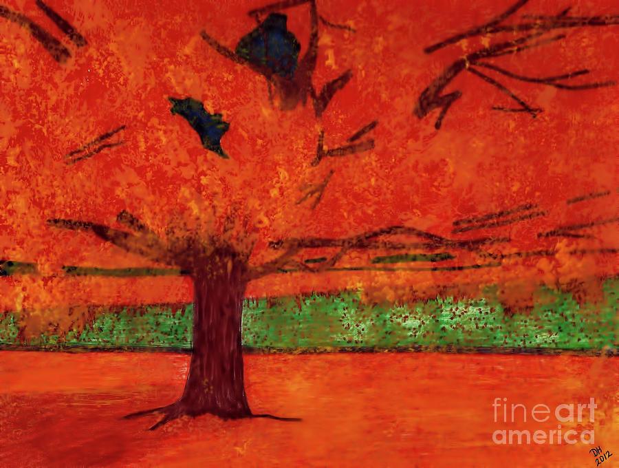 Trees In Orange by D Hackett
