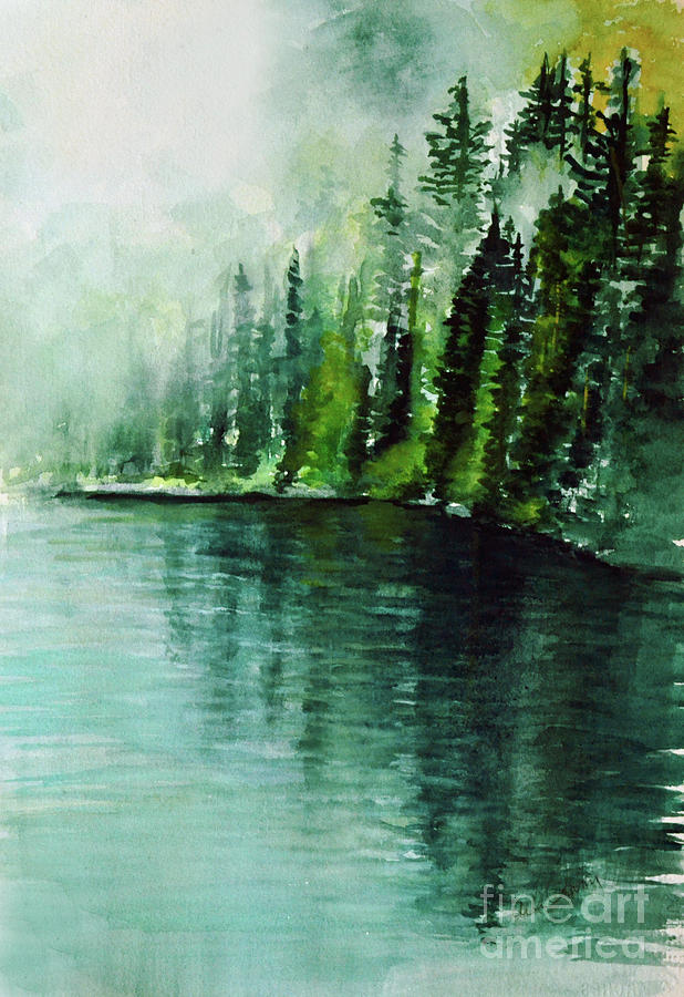 Trees In The Midst Painting