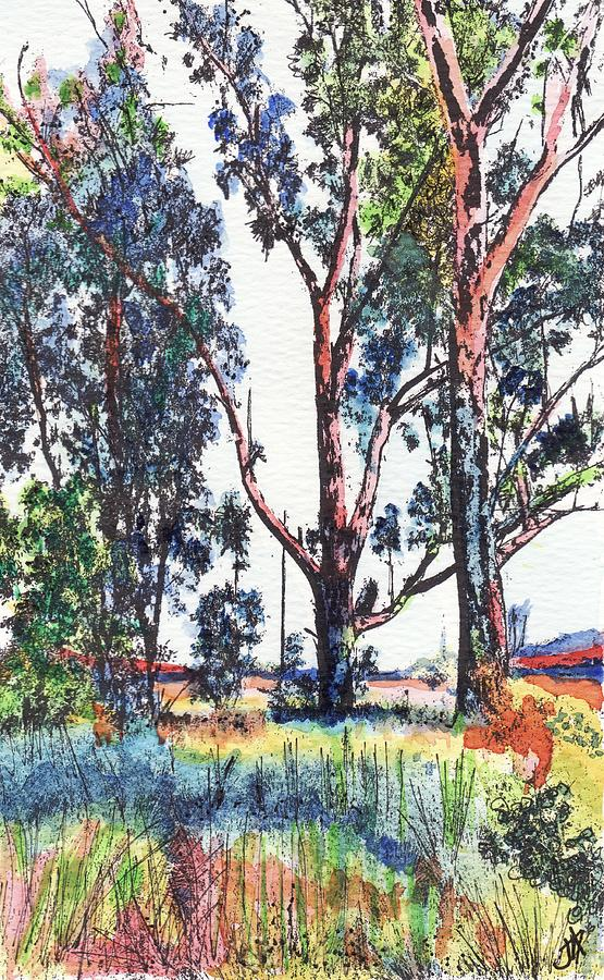 Trees on my travels by Jacqui Simpson