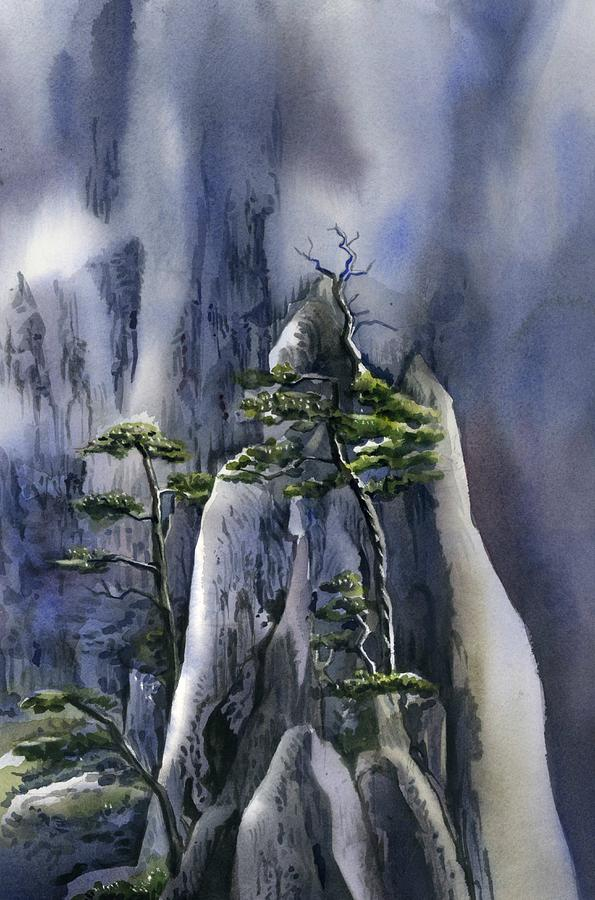 trees on the mountains by Alfred Ng