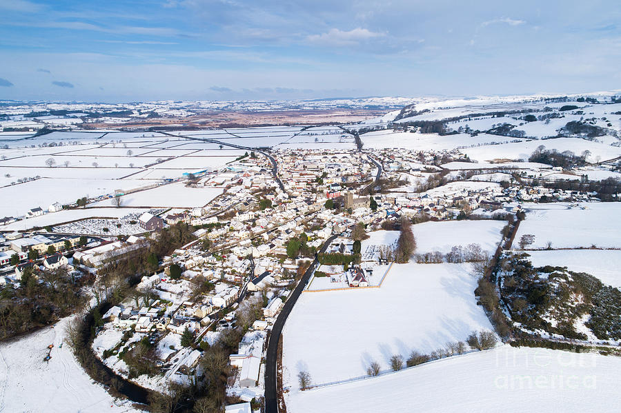 Tregaron Village, mid wales, in the Snow by Keith Morris