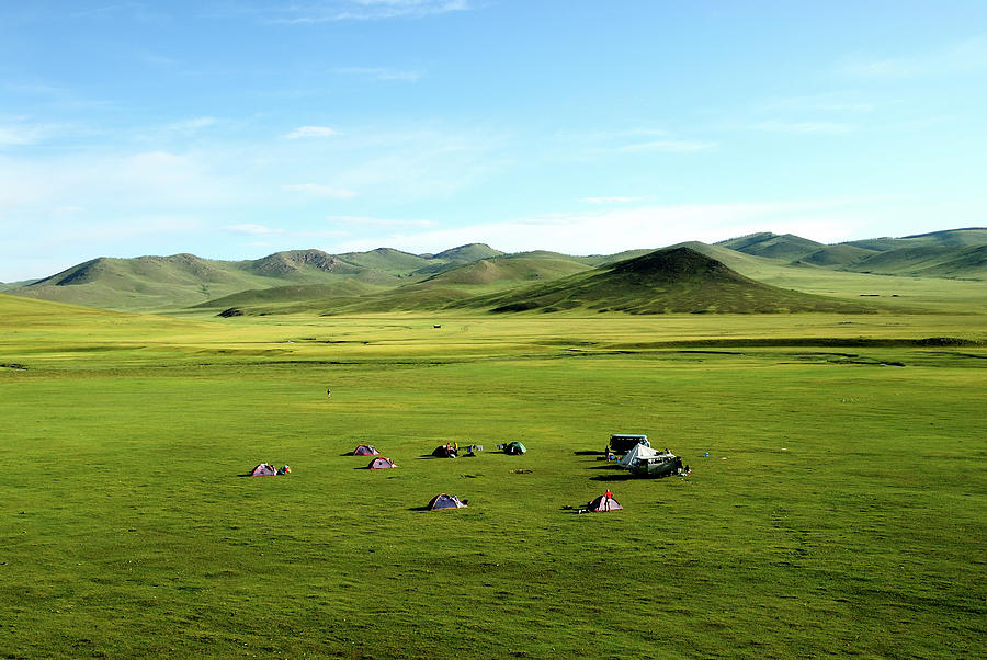 Trekking In Mongolia Photograph by Shenzhen Harbour