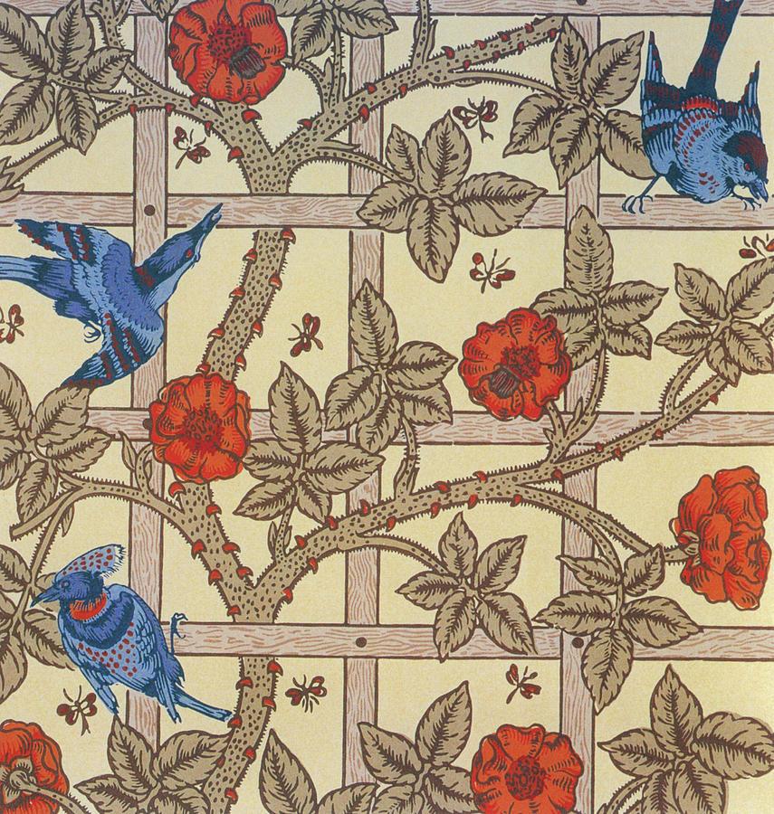 Trellis Painting - Trellis - Digital Remastered Edition by William Morris