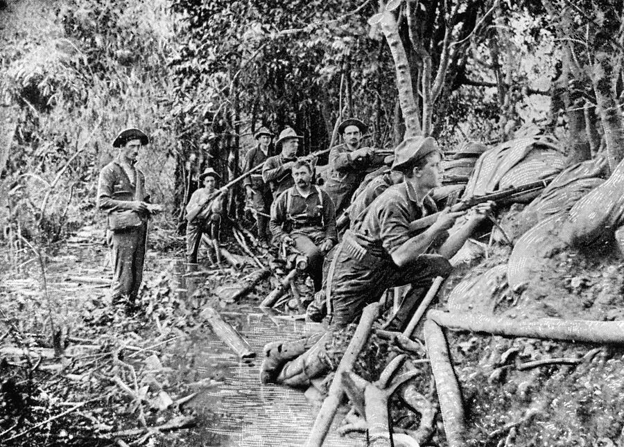 Trench Near Manila Photograph by Hulton Archive