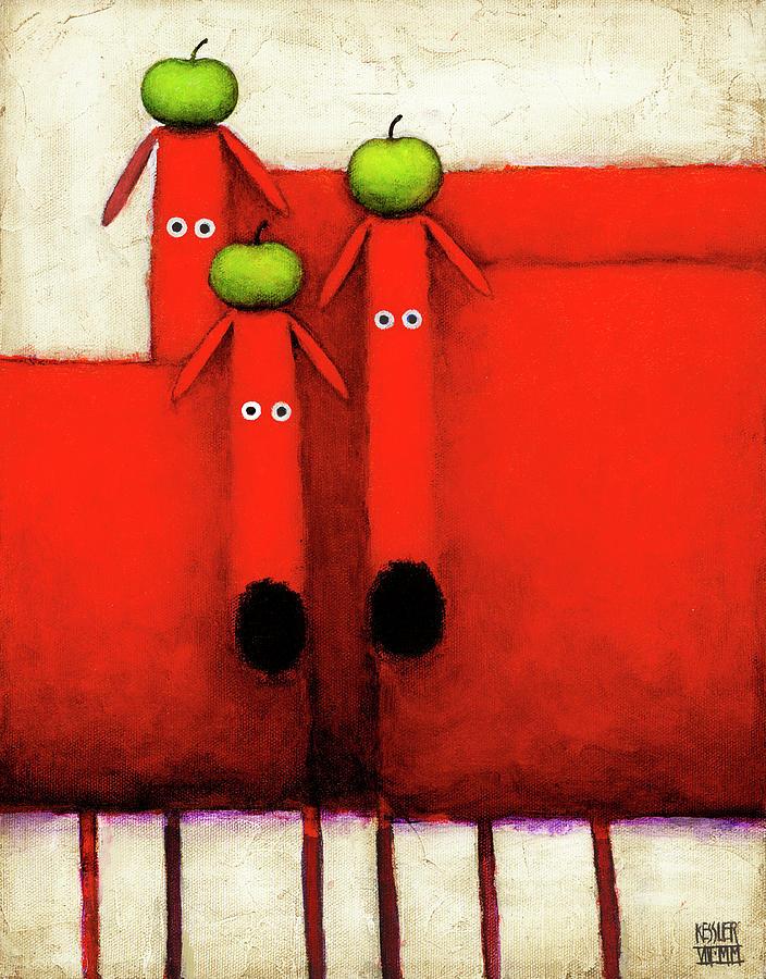Animal Painting - Tres Amigos Art by Daniel Patrick Kessler