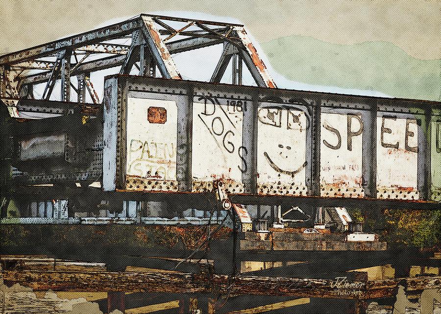 Train Photograph - Trestle Detail by Jim Ziemer