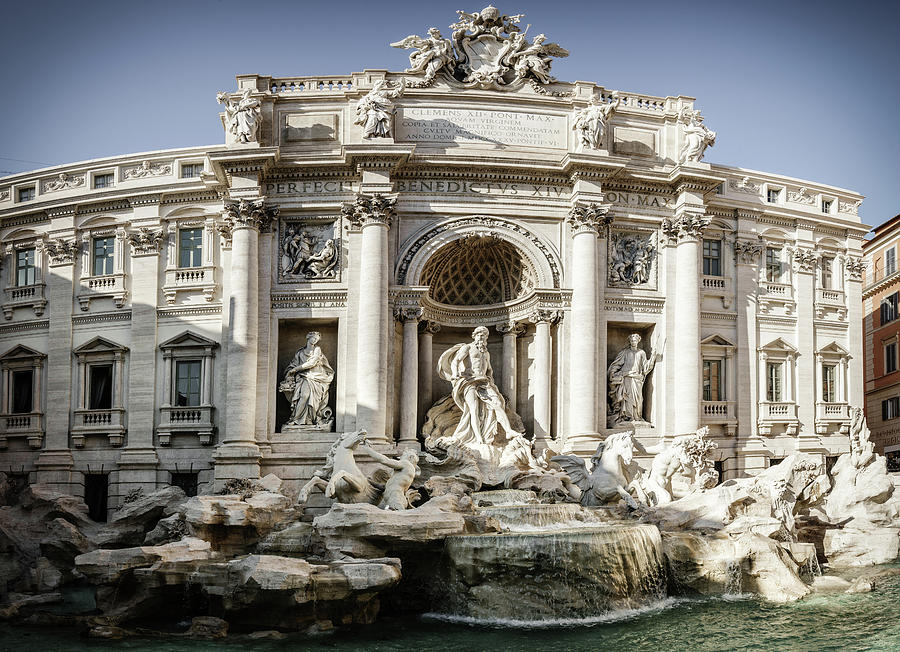 Trevi Fountain In Rome Photograph