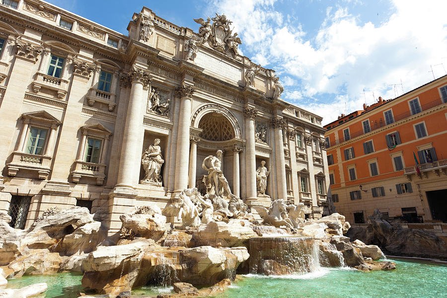 Trevi Fountain In Rome, Italy Photograph by Xenotar